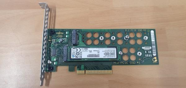 Fujitsu M.2 Carrier Board D3352-A21 PCIe x8 Gen3 OHNE SSD