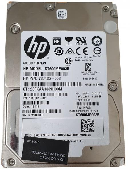 "HP 600GB 15K 6G 2,5"" SAS Festplatte HDD 736997-001"