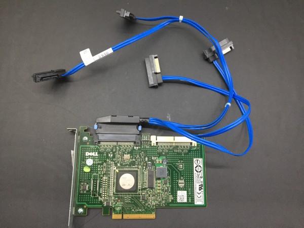 Dell SAS -Controller für Dell Precision PCI-E x8 DP/N: 0JW063 mit Kabeln