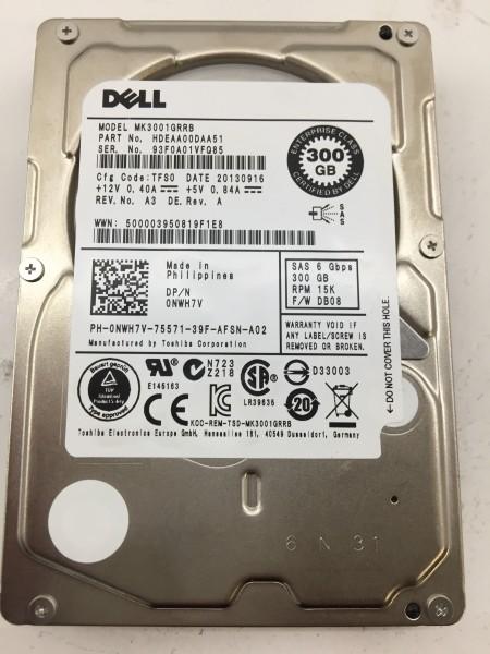 """Dell 2,5"""" SAS 6 Gbps 15K 300GB Festplatte Modell: MK3001GRRB"""
