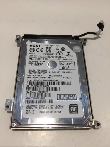 """Festplatten CADDY Halterung/Kabel für HP ZBook 15/17 G3 inkl 1TB Festplatte 2,5"""" HGST"""